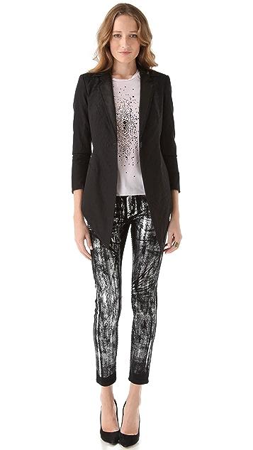 Kelly Wearstler Foil Tierney Skinny Jeans