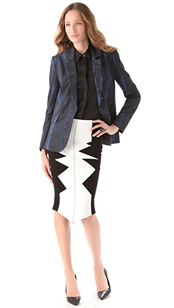 Kelly Wearstler Shark's Tooth Organto Skirt