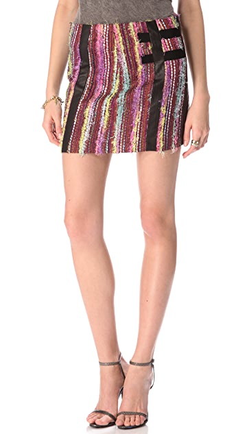 Kelly Wearstler Eyelash Tweed Skirt