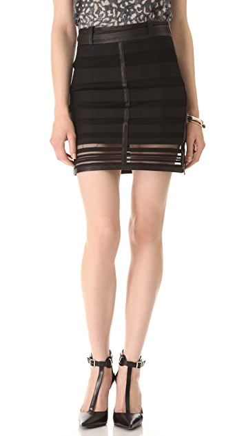 Kelly Wearstler Striped Panels Skirt