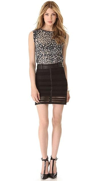 Kelly Wearstler Striped Panels Skirt