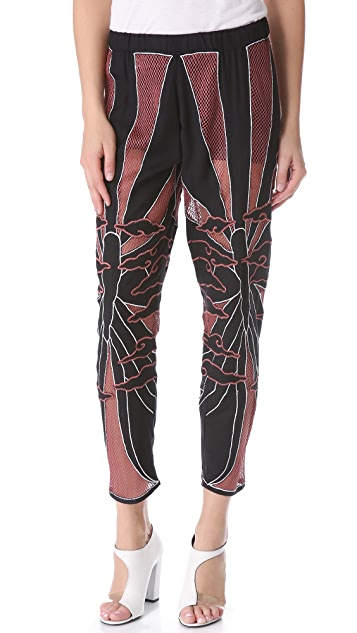Kelly Wearstler Embroidered Butterfly Pants