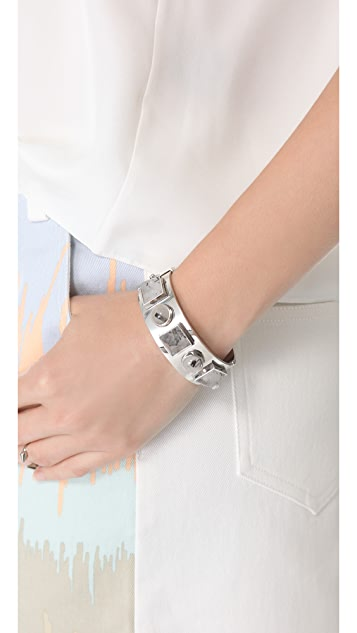 Kelly Wearstler Quartz Facet & Cabochon Cuff