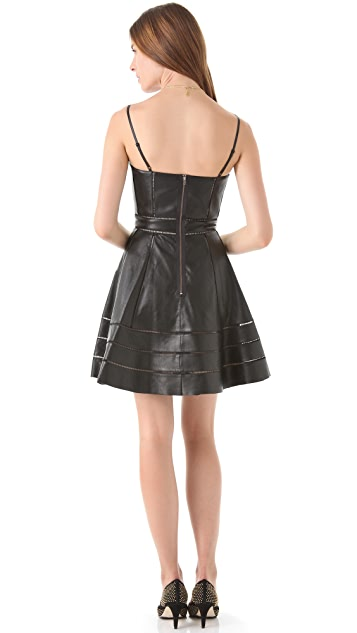 Kymerah Sora Leather Bustier Dress