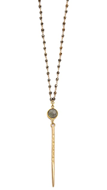 Lacey Ryan Pyrite Rosary Spike Necklace
