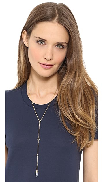 Lacey Ryan Crystal Spear Lariat Necklace