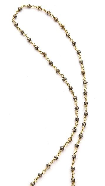 Lacey Ryan Pyrite Arrowhead Necklace