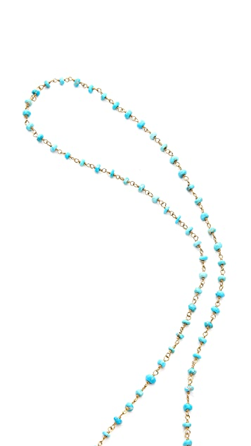 Lacey Ryan Turquoise Rosary Necklace