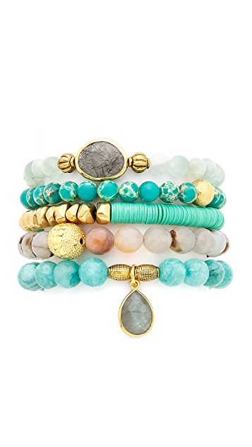 Lacey Ryan Green Goddess Bracelet Set