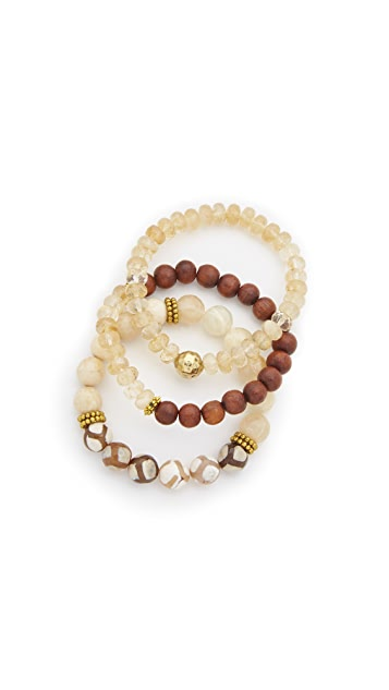 Lacey Ryan Yellow Triple Bracelet Set