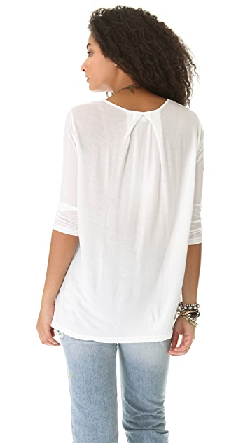 The Lady & The Sailor Pleat Back Tee