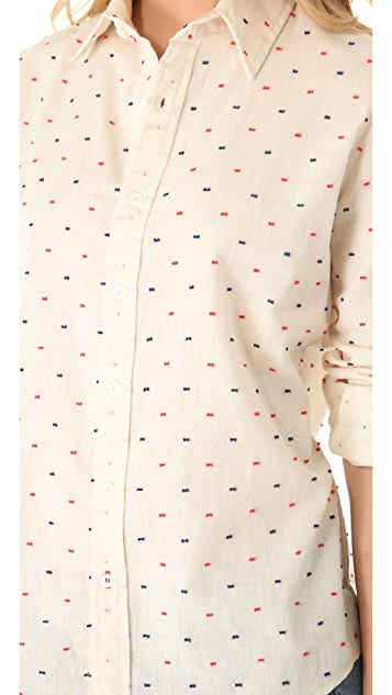 The Lady & The Sailor Boyfriend Button Shirt