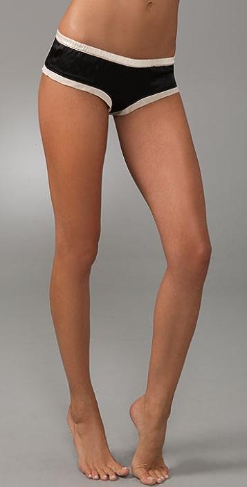 La Fee Verte Silk Tap Shorts
