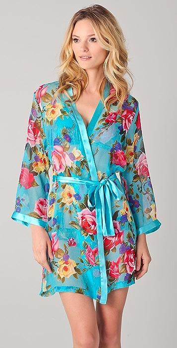 ac977ea1ce La Fee Verte Silk Floral Robe