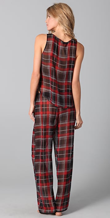 La Fee Verte Plaid Pants Set