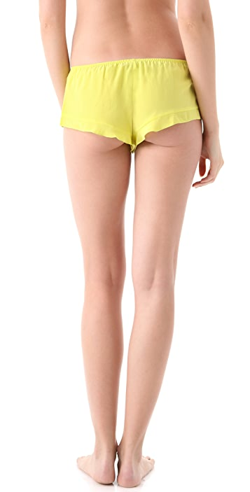 La Fee Verte Silk Crepe Boy Shorts