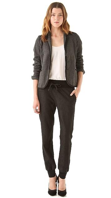 La Fee Verte Washed Leather Sweatpants