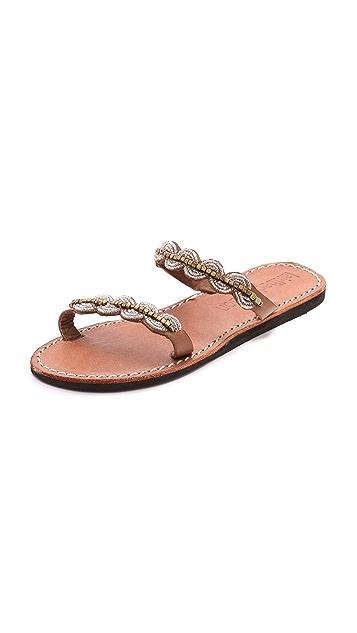 Laidback London Aria Beaded Sandals