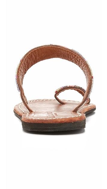 Laidback London Trent 趾环凉鞋