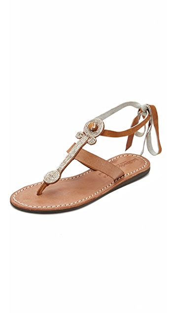 Laidback London Henley Beaded Sandals