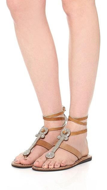 Laidback London Henley Beaded Sandals