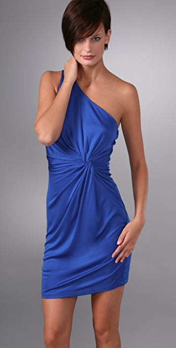 Laila Azhar One Shoulder Twist Dress