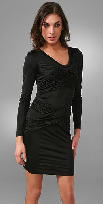Laila Azhar Long Sleeve Crisscross Dress