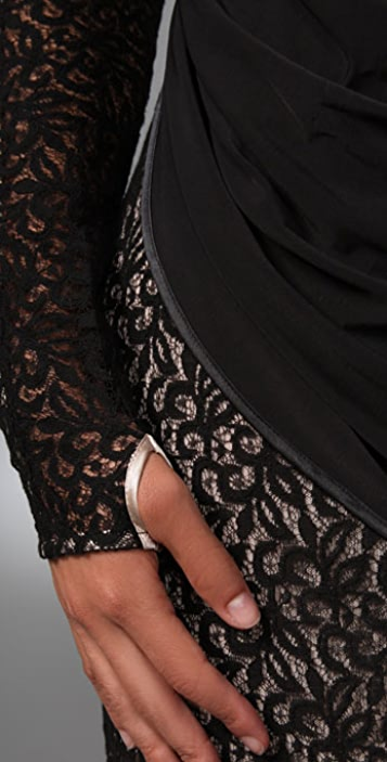 L.A.M.B. Lace Long Sleeve Dress