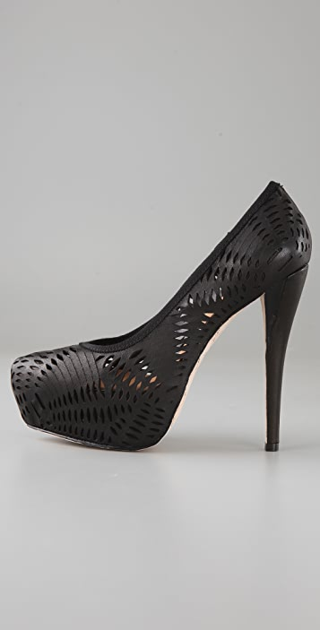 L.A.M.B. Lively Laser Cut Platform Pumps