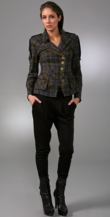L.A.M.B. Military Plaid Blazer