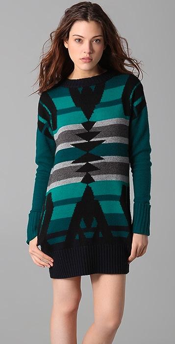 L.A.M.B. Intarsia Tunic Sweater Dress