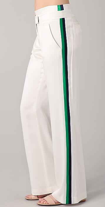 L.A.M.B. Wide Leg Tuxedo Stripe Pants