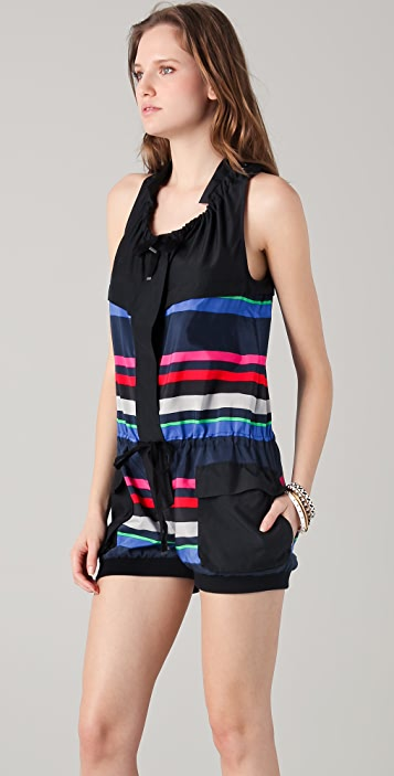 L.A.M.B. Bold Striped Romper