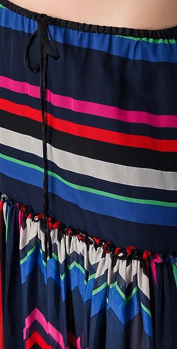 L.A.M.B. Multi Striped Maxi Skirt