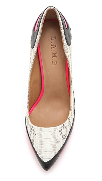 L.A.M.B. Jean Sporty Pumps