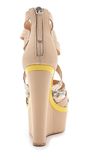 L.A.M.B. Jenelle Wedge Sandals