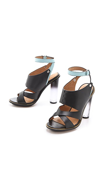 L.A.M.B. Chase Sandals with Lucite Heel