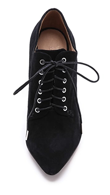 L.A.M.B. Isabella Suede Lace Up Booties