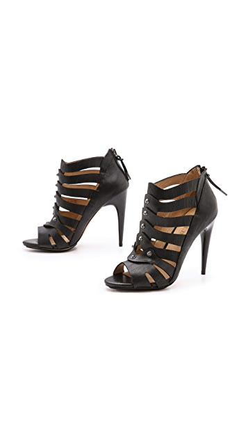 L.A.M.B. Leo Strappy Booties