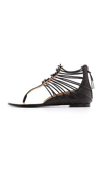L.A.M.B. Reagon Strappy Flat Sandals
