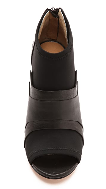 L.A.M.B. Deedra Open Toe Booties