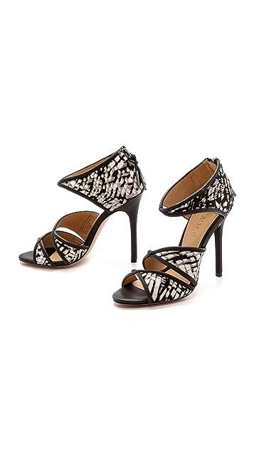 L.A.M.B. Waren Print Haircalf Sandals