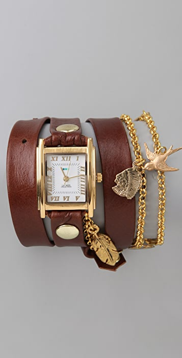 La Mer Collections Peace Pipe Charm Wrap Watch