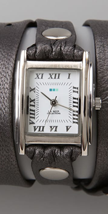 La Mer Collections Square Wrap Watch