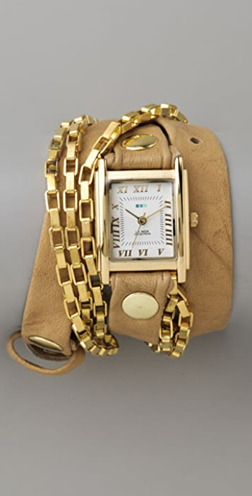 La Mer Collections Disco Chain Wrap Watch