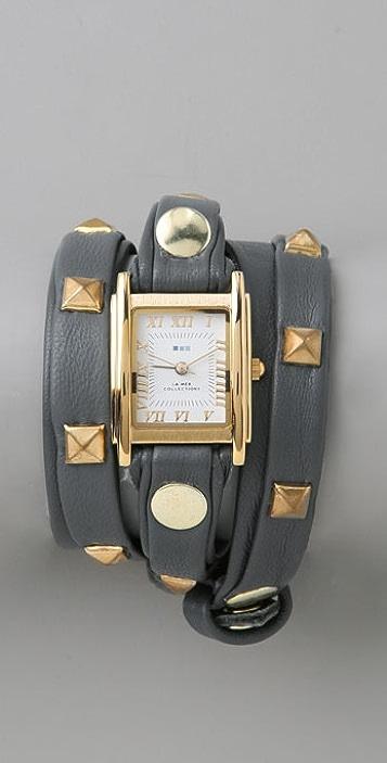 La Mer Collections Pyramid Stud Wrap Watch