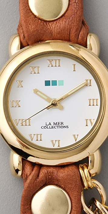 La Mer Collections Arizona Tobacco Multi Chain Wrap Watch