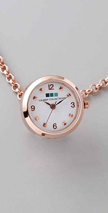 La Mer Collections Rose Gold Ring Watch Necklace
