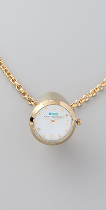 La Mer Collections Gold Ring Watch Necklace