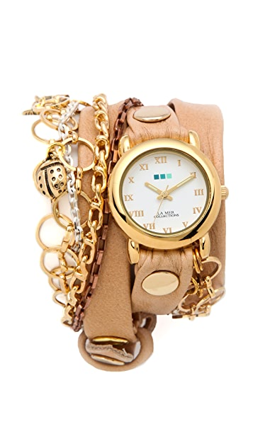 La Mer Collections Palm Springs Vintage Charms Watch